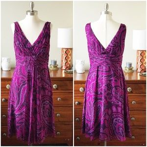 NWT Donna Morgan purple silk summer dress